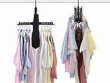 Faltbar Kleiderbügel 3pcs. Wäschebügel Kunststoff Anzugbügel Multifunktions Kleidung Hänger Anti-Rutsch Platzsparend Kleider Rack Rutschfeste Hosenstange Drahtkleiderbügel für Kleidung, Krawatte