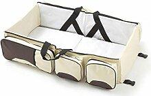 faltbar Wiege Beweglicher Beutel für Baby hohe Kapazität multifunktionale Tasche Reisebett bunte Wiege , meters white