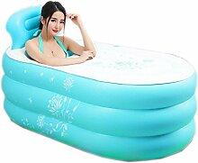 Faltbare aufblasbare erwachsene Badewanne blau