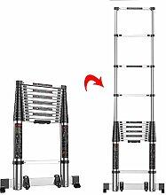 Faltbare ausziehbare gerade Leiter für das