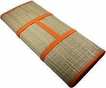 Faltbare Bast Strandmatte unifarben 190x60cm Kopfkissen Badematte Bastmatte Matte Strand NEU, Farbe:Orange