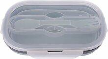 Faltbare Bento-Silikon-Lunchbox,