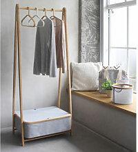 Faltbare Design-Garderobe mit Staufach schafft