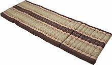 Faltbare Matratze 80x200 cm Matte in Brauntönen mit Füllung aus 100% Kapok