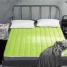 Faltbare Matratze Schutz Matte Gesteppte Handwerk Matratze Beschützer ( Farbe : Grün , größe : 180*200cm )