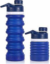 Faltbare Wasserflasche, Camping-Becher, BPA-frei,