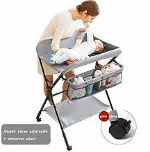Faltbare Wickeltisch Baby Windelstation Mit RäDern