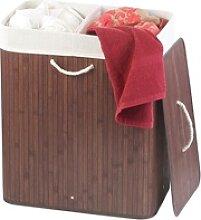 Faltbarer Bambus-Wäschekorb mit Deckel und
