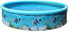 Faltbarer Pool Rundes Planschbecken Sommer Outdoor