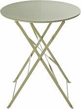 Faltbarer runder Gartentisch aus Metall,