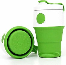 Faltbarer Silikon-Kaffeebecher, tragbar,