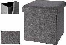 Faltbarer Sitzhocker Sitzwürfel grau