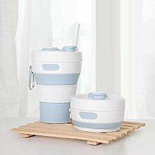 Faltbarer tragbarer Kaffeebecher aus Silikon, für