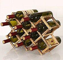 Faltbares Massivholz Vintage Weinregal mit