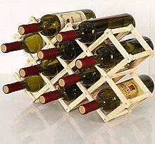 Faltbares Vintage-Weinregal aus Massivholz mit