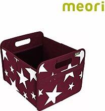 Faltbox Classic Medium Bordeaux Rot / Sterne