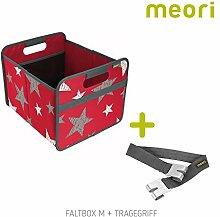 Faltbox Classic Medium Hibiskus Rot / Sterne