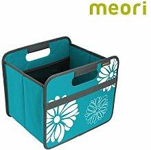 Faltbox Classic Small Azur Blau / Blumen