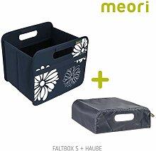 Faltbox Classic Small Marine Blau / Blumen + Haube