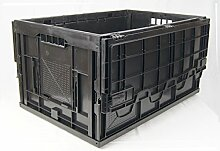 Faltbox- Klappbehälter mit Scharnier-Klappdeckel,