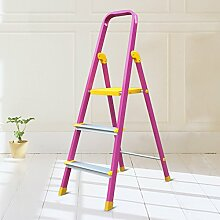 Falten drei Schritte Ladder Hocker rutschfeste