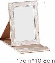 Falten Kosmetikspiegel Desktop-kreative Korea Prinzessin Spiegel einseitige HD Spiegel-C
