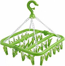 Falten Racks Erwachsene Winddichte Kleidung Racks / Kinder Socken Kleiderbügel, Grün