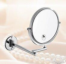 Falten Sie die Make-up-Spiegel 8Zoll3.Zeiten Make-up-Spiegel