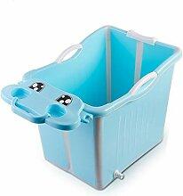 Faltende Badewanne CYLQ Faltbare Kinderbadeeimer,