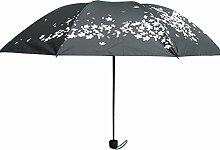 Faltender Regenschirm, Outgeek Reise Regenschirm Anti UV Wasserdichter Winddichter Sonnenschirm für Outdoor
