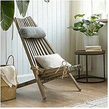 Faltliege aus Massivholz Sofa und Hocker für Die