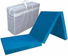 Faltmatratze - Klappmatratze blau