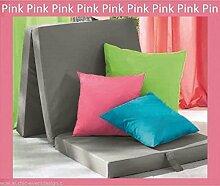 Faltmatratze Pink 190 x 63 x 8 cm, Gästematratze, Sitzwürfel