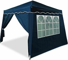 Faltpavillon blau 3x3 m + 4 Seitenwände - Popup