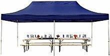 Faltpavillon Faltzelt Pavillon Klappzelt 3x6 m - ca. 400g/m² Plane + Aluminiumgestänge - Zelt Partyzelt Gartenzelt Sonnenschutz Markstand Popup, ohne Seitenteile, dunkelblau