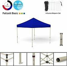 Faltpavillon Faltzelt Pavillon Klappzelt Basic 3 x 3 m, blau