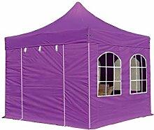 Faltpavillon Pavillon 3x3m mit Fenstern edles Polyester Wasserdicht PROFIZELT24 Partyzelt lila
