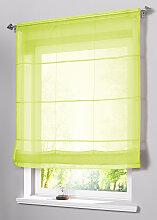 Faltrollo Uni Voile, grün (H/B: 155/120 cm)