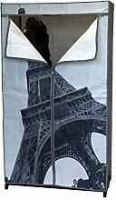 Faltschrank Paris 87x45xH156cm mit Kleiderstange Campingschrank Stoffschrank Kleiderschrank faltbar