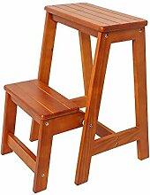 Faltstuhl aus solidem Holz für den Hocker mit