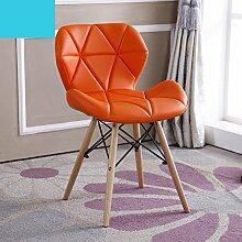 faltstuhl Einfache moderne Computer Stuhl kreative Stuhl / Mode Konferenzstuhl / einfache Bürostuhl / Tisch zurück Stuhl (verschiedene Farben erhältlich) holzklappstuhl ( Farbe : H )