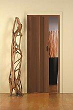 Falttür aus PVC Kunststoff NUSSBRAUN, H 214 x 83