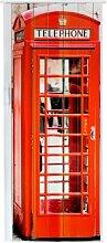 Falttür Schiebetür Tür mit Motiv Telefonzelle