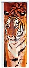Falttür Schiebetür Tür mit Motiv Tiger bunt farben Höhe 202 cm Einbaubreite bis 83 cm Doppelwandprofil Neu