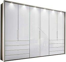 Falttüren Schlafzimmerschrank in Weiß und