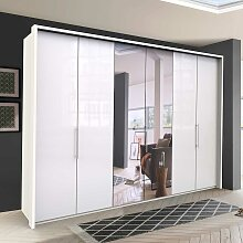 Falttürenschrank mit Spiegel modern