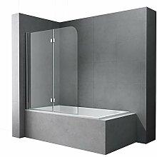 Faltwand Badewanne 120x140cm Badewannenaufsatz