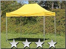 Faltzelt Faltpavillon 3x2m 2x3m Gelb Partyzelt Pavillon Verkaufszelt wasserdich