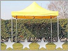 Faltzelt Faltpavillon 3x3m 3x3m gelb Partyzelt Pavillon Verkaufszelt wasserdich