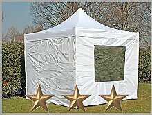 Faltzelt Faltpavillon 3x3m 3x3m weiß mit 4